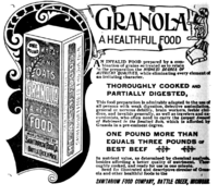 Kellogg's Granola ad 1893