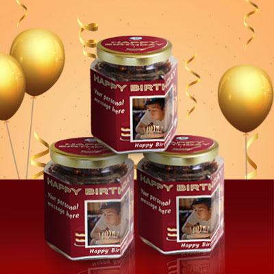 Happy Birthday Granola Gift Jars