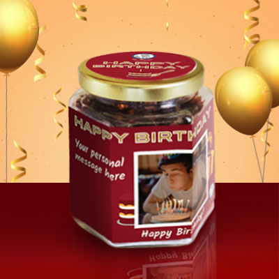 Birthday Granola gift jar