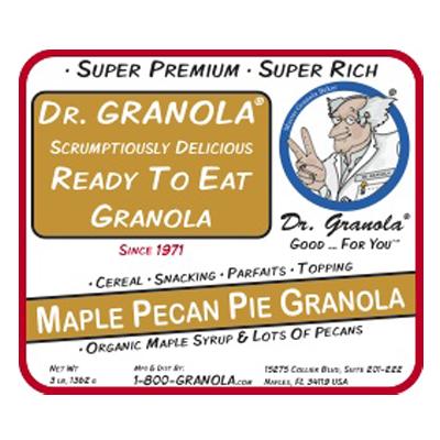 Maple Pecan Pie Granola label