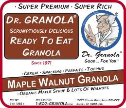Maple Walnut Granola label